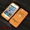 เคส iPhone4/4s ซิลิโคน หมี Rilakkuma [ไม่ย้วย ไม่มีคราบกาว]