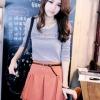 (พร้อมส่ง)เสื้อยืดแฟชั่น แขนยาว ผ้าคอตตอนเนื้อนิ่ม ใส่สบาย สีเทา Tokyo Fashion