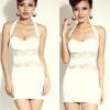 party dress12สีขาว