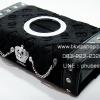 กล่องทิชชู่ Tissue Box D.A.D type Crown ลายโมโนแกรมผิวกำมะหยี่ สีดำ