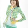 (พร้อมส่ง)เสื้อคลุม ไหมพรมบาง ลายหัวใจ คุณภาพดี สีเหลือง-เขียวพาสเทล