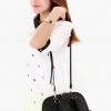 (พร้อมส่ง)กระเป๋าหนัง ไซส์เล็ก ทรงน่ารักน่าเอ็นดู สีดำสวย กระเป๋าแฟชั่น แบรนด์ Axixi