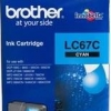 BROTHER INK CARTRIDGE LC-67C สีฟ้า