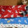 ผ้าจัดเซต Tre'fle fabric 2 ชิีนบนขนาดแต่ละ 27x45 cm + ผ้าลายจุดซื้อในไทยค่ะ ขนาด 50 x 55 cm