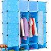 ตู้ DIY ลายสีฟ้าดอกไม้ ขนาดช่องละ 37x37 ซม. รับน้ำหนักได้ช่องละประมาณ 10-15 กิโลกรัม (ขนาด 12 และ 16 แถมชั้นวางรองเท้า)