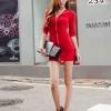 party dress234สีแดง