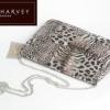 (พร้อมส่ง)กระเป๋าถือลายเสือสีเงินเมทาลิค Ann-Harvey ถือออกงานหรือใส่ของจุกจิกก้อได้ค่ะงามมากๆ