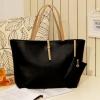 (พร้อมส่ง)กระเป๋าหนัง แฟชั่น แบบเรียบๆ สะพายได้หลายโอกาส สีดำ