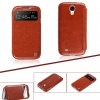 HOCO Crystal View series leather Case for Samsung Galaxy S4-Brown