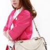 (พร้อมส่ง)กระเป๋าหนังนิ่ม สีขาวครีม คุณภาพดี ทรงสวย ไฮโซ กระเป๋าแฟชั่น แบรนด์ Axixi
