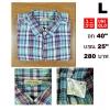 เสื้อเชิ้ตลายสก๊อต เสื้อเชิ้ต Uniqlo Size L