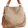 กระเป๋าสะพายหนังพิมพ์ลาย สีกาแฟ สายสีน้ำตาล แต่งขอบด้านข้างพร้อมติดซิปทั้ง2ข้าง หูกระเป๋าเสริมด้วยโซ่+สายเกลียว