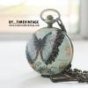 นาฬิกาพก สไตล์ยุโรปวินเทจ ของ premium สุดหรู ลาย Butterfly Angle