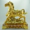 ม้าทองฐานแก้ว 8 นิ้วพร้อมกล่องแดง