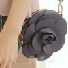 (พร้อมส่ง)กระเป๋าเงิน น่ารัก ใบเล็ก รูปดอกไม้ สไตล์เกาหลี สีกรมท่า แบรนด์ PG
