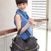 (พร้อมส่ง)กระเป๋าแฟชั่น สีดำ หนังลายเรียบ แต่งสายโซ่ ทรงสวยคลาสสิค คุณภาพดี แบรนด์ PG