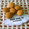 กระดุมปั๊ม handmade ขนาด 2 cm- ผ้าพื้นคอตตอน (1 แพคบรรจุ 1/2 โหล)