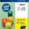 BROTHER INK CARTRIDGE LC-663Y สีเหลือง