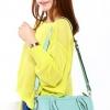 (พร้อมส่ง)กระเป๋าแฟชั่น หนังนิ่ม คุณภาพดี สีฟ้า สไตล์เก๋ๆ+กระเป๋าเล็ก 1 ใบ แบรนด์ Axixi