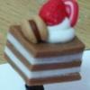 จุกเสียบป้องกันฝุ่น เค้ก ช๊อกโกแลต (งาน Handmade)