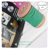 LCB6 : เชือกหนังแบน กว้าง 3 mm หนา 2 mm ราคาต่อ 1 หลา - โทนสีเขียวใบไม้