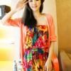 (พร้อมส่ง)จั๊มพ์สูท สีสันสดใส ลายดอก แฟชั่น อินเทรนด์ 2012