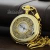 นาฬิกาพกวินเทจลายฉลุลายเถาวัลย์สีทองนวล Golden Floret (พร้อมส่ง)