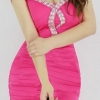 party dress278สีชมพูเข้ม