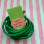 ยางยืดแบบกลมสีเขียวใบไม้ ขนาด 0.3 cm ราคาขายต่อ 1 หลา