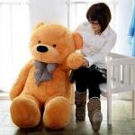 ตุ๊กตาหมียิ้ม Teddy 1.6 เมตร สีน้ำตาลอ่อน ตุ๊กตาตัวใหญ่น่ารักน่ากอด