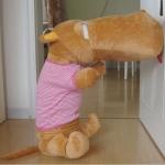 ตุ๊กตาฮิปโป ตุ๊กตาตัวใหญ่ หน้าตากวนๆๆๆ ประกอบซีรี่ย์ Smile again ขนาด 1.4 เมตร เสื้อสีชมพู