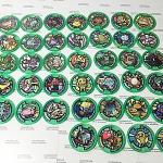 เหรียญ DX Yo-Kai Watch สีเขียว Set 39 เหรียญ ไม่ซ้ำแบบ มือสอง