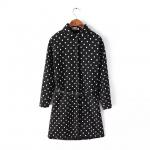 [Preorder] เสื้อเชิ๊ตแฟชั่นแขนยาวลายจุด สีดำ 2014 autumn and winter new Korean Institute of wind plus velvet lapel Polka Dot Long shirt bottoming shirt female British style
