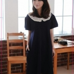 เดรสคลุมท้องคุณแม่แสนหวานสีน้ำเงิน Special Offers Maternity summer 2012 pregnant women of the new lace round neck pregnant women dress dress breastfeeding dress