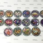 เหรียญ DX Yo-Kai Watch สีเทา Set 16 เหรียญ ไม่ซ้ำแบบ มือสอง