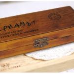 ชุดตัวปั๊มไม้ ภาษาอังกฤษ ลายมือเขียน พิมพ์ใหญ่ antique 42 ชิ้น