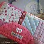 กระเป๋าสตางค์ใบยาวงานควิลท์-กระต่ายสีชมพู