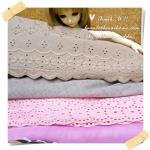 JUNE58.Pack22 : ผ้าจัดเซตผ้าในไทย 2 ชิ้น ผ้าแต่ละชิ้นขนาด 27 X 50cm + ผ้าตาข่ายเนื้อนุ่มขนาด 40 X 50 cm 2 ชิ้น