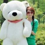 ตุ๊กตาหมีหลับ ตัวใหญ่ ขนาด 1.8 เมตร สีขาว