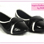 [Preorder] รองเท้าส้นเตี้ยคลุมส้นสีดำ (กันน้ำ) new 2012 casual comfort shoes round with flat shoes