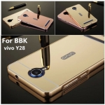 Luxury Mirror Cover with Bumper สำหรับ Vivo Y28