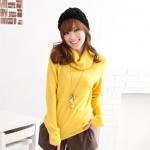 [Preorder] เสื้อกันหนาวแขนยาวคอสูงสีเหลือง Trifle collar long-sleeved the warm sweater