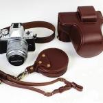 เคสกล้องolympus em10 mark2 หนังแท้