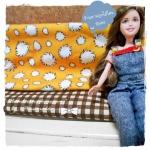 OCT57Pack5 : ผ้าจัดเซตคู่ ผ้าอเมริกา+ ผ้าจากตลาดไทย ขนาดผ้าแต่ละชิ้น 25-27 X 45 cm