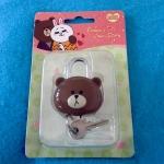 พร้อมส่ง Mascot lock หมีbrown