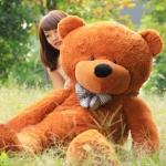 ตุ๊กตาหมียิ้ม Teddy 1.6 เมตร สีน้ำตาลเข้ม ตุ๊กตาตัวใหญ่น่ารักน่ากอด