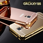 Luxury Mirror Case with Aluminium Bumper สำหรับ Samsung Galaxy S5