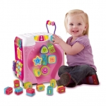 กล่องกิจกรรม Vtech Alphabet Infant Discovery Fun Activity Cube - Pink