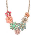 wild rose flower necklace รอสั่งซื้อเป็นสินค้าพร้อมส่งนะคะ