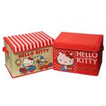 พร้อมส่ง Sanrio Hello Kitty กล่องใส่ของพับได้ ลายน่ารัก sizeใหญ่ค่ะ